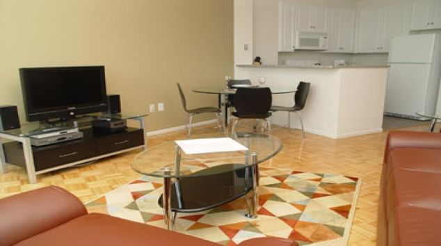 Living room at ABA 70 Greene Apartments