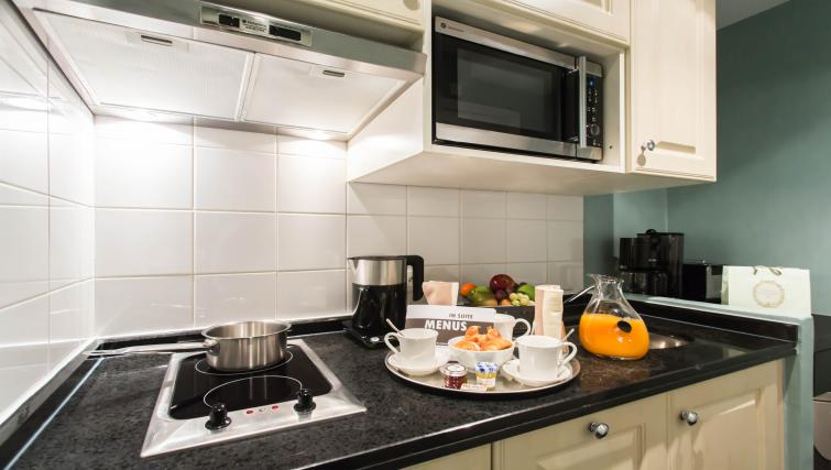Equipped kitchen at Fraser Suites Le Claridge Champs-Elysees