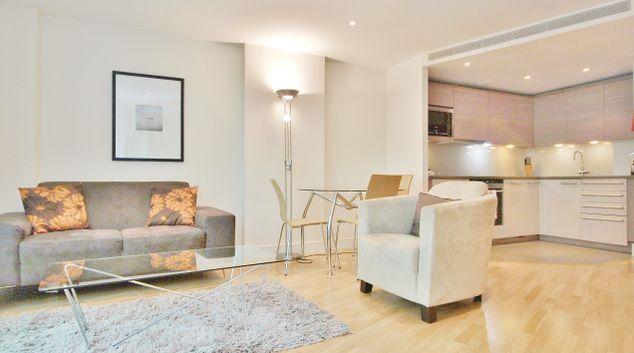 Bright living area at Still Life Vauxhall