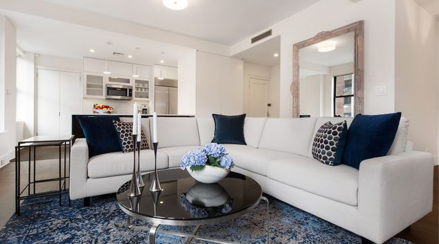 Sofa at 176 West 87th Street Apartment