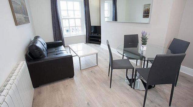 Living area at Wellington Quay Serviced Apartments