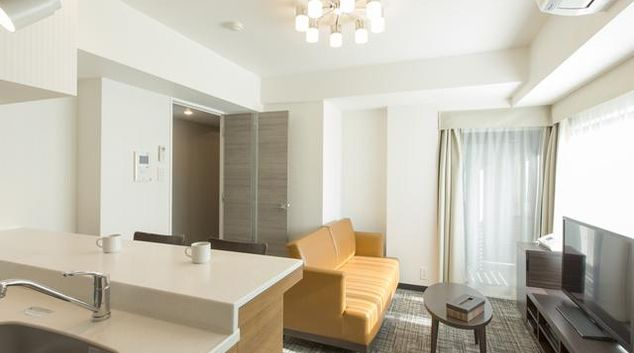 Living area at APA Serviced Residence Akihabara Lounge area