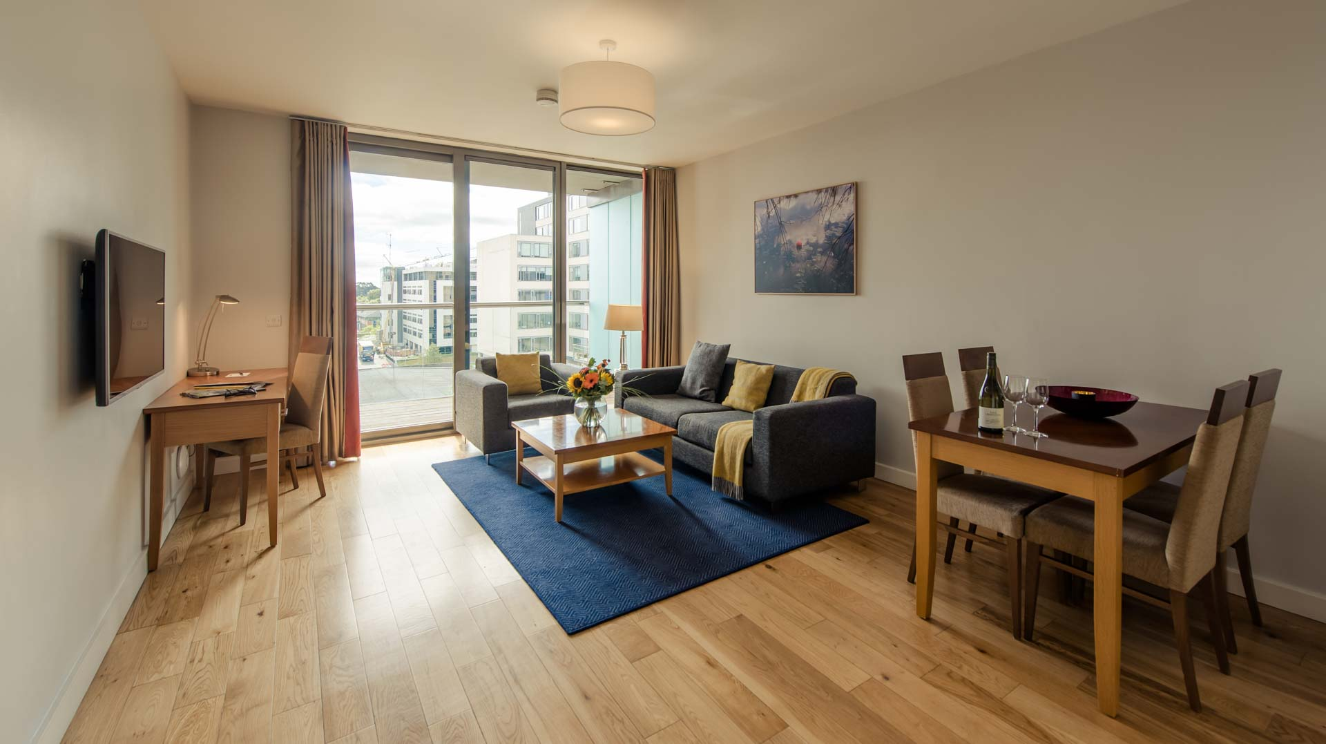 Living room at Premier Suites Dublin Sandyford, Sandyford, Dublin