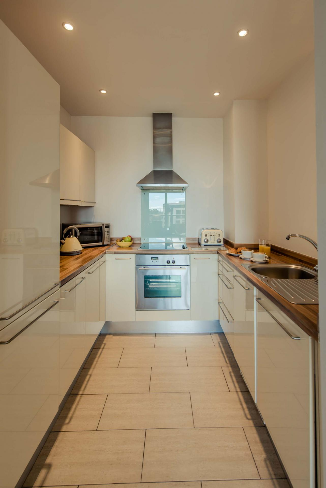 Kitchen at Premier Suites Dublin Sandyford, Sandyford, Dublin