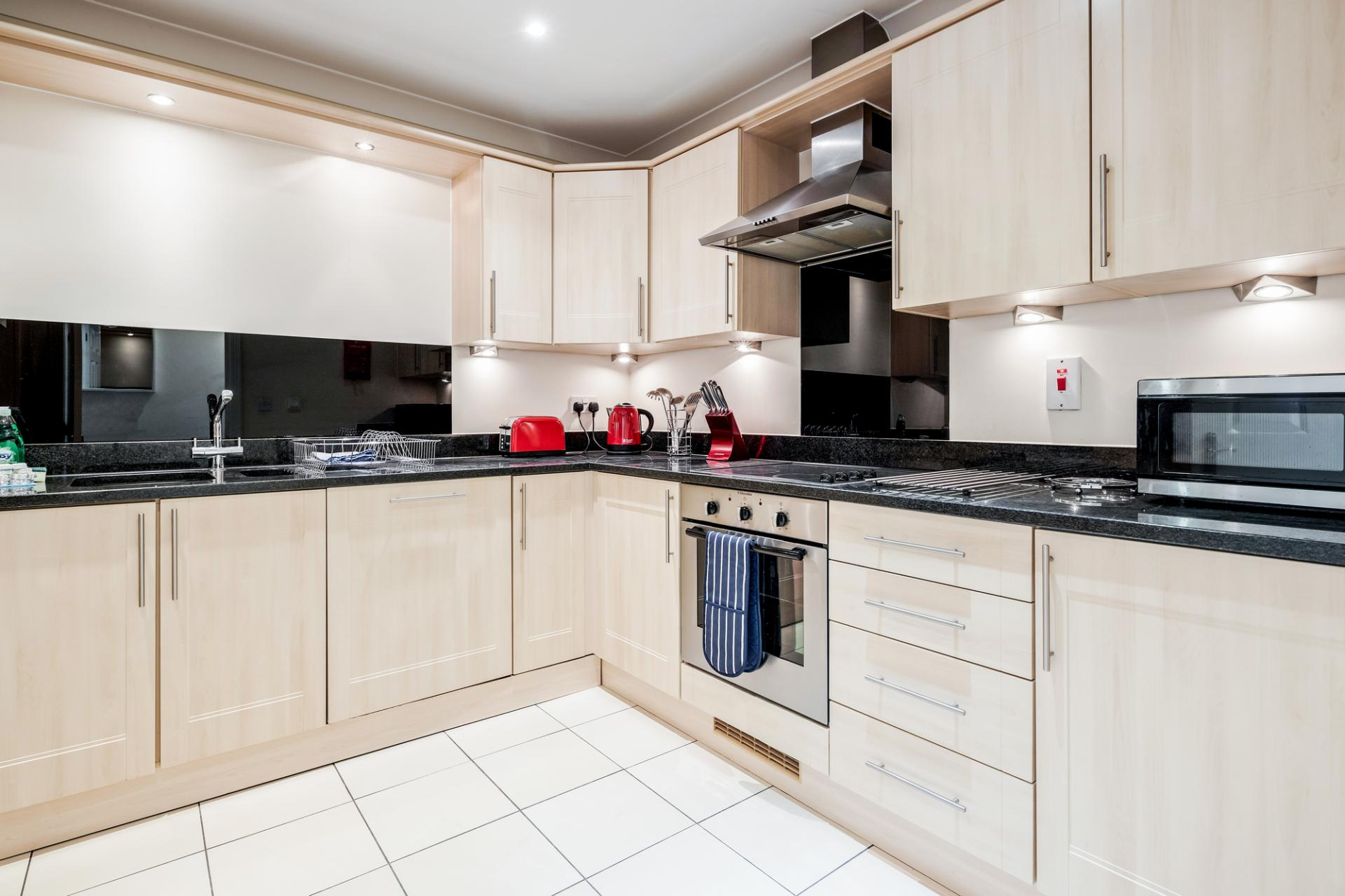 Kitchen at Royal Swan Quarter Apartments, Centre, Leatherhead