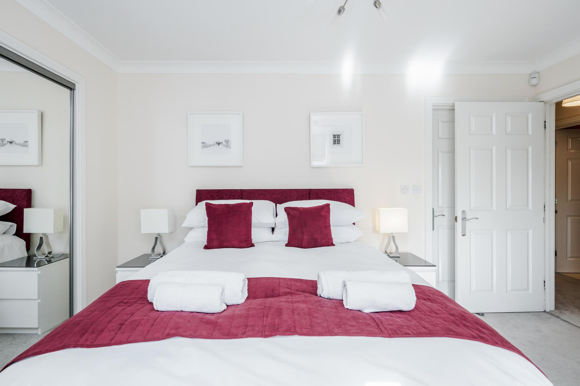 Bedroom at Royal Swan Quarter Apartments, Centre, Leatherhead