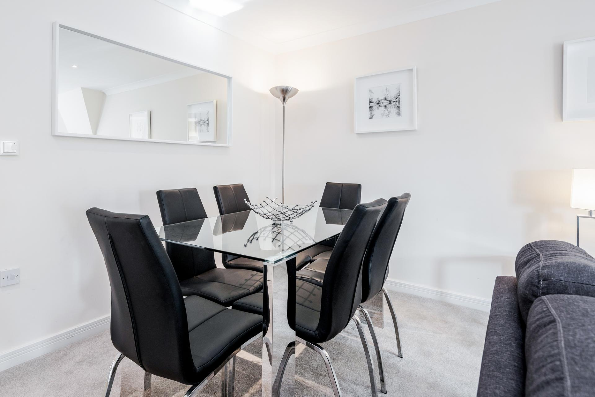 Dining area at Royal Swan Quarter Apartments, Centre, Leatherhead