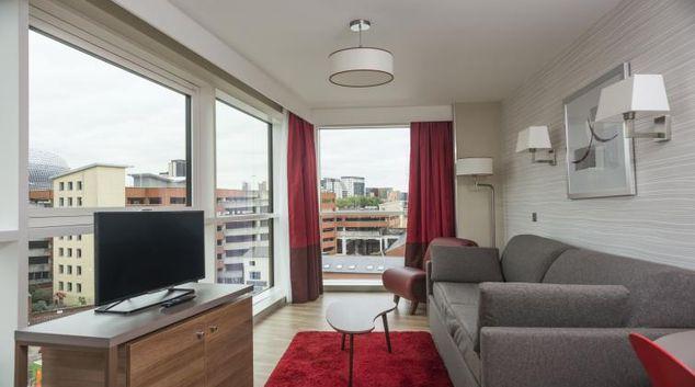 Living area at Adagio Birmingham City Centre