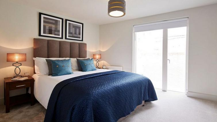 Double bed at Oakwood Leather Lane