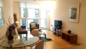Spacious living area at Still Life Tower Hill Deluxe