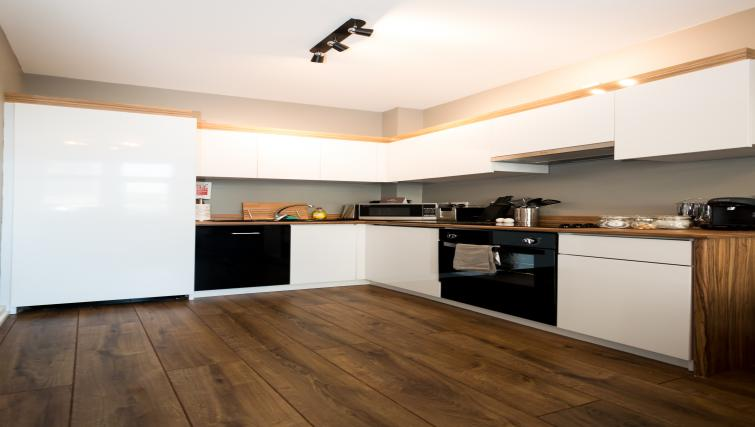 Kitchen at Fitzhamon Apartments