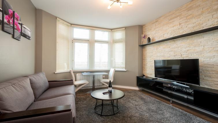 Living area at Fitzhamon Apartments