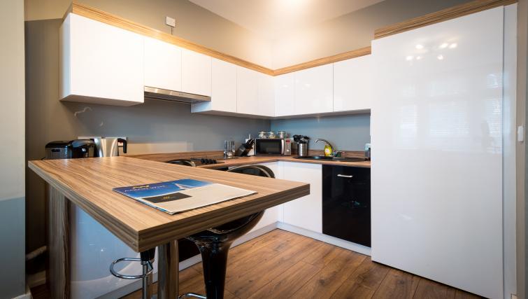 Modern kitchen at Fitzhamon Apartments