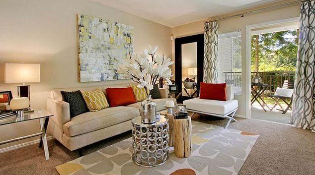 Living area at Avana Apartment