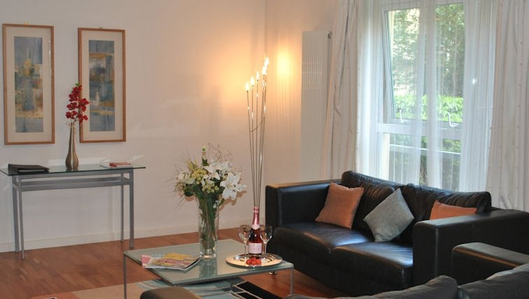 Bright living area at Holyrood Apartments