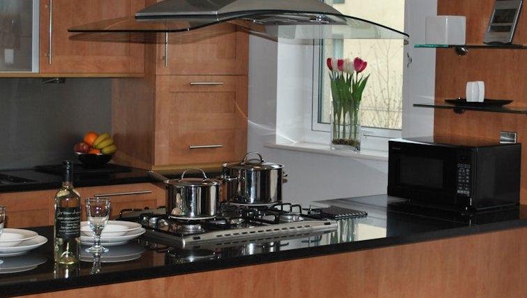 Spacious kitchen at Holyrood Apartments