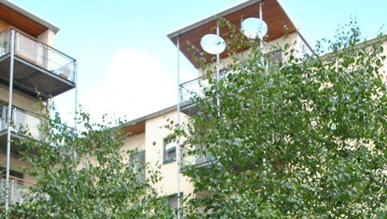 Modern exterior at Holyrood Apartments