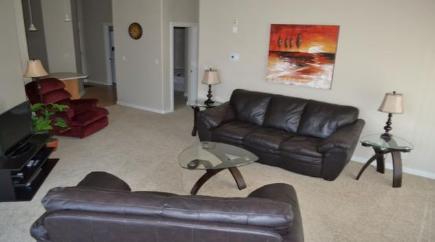 Living area at The Ashby Apartments