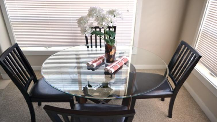 Dining table at The Ashby Apartments