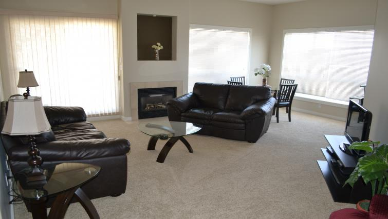 Living space at The Ashby Apartments
