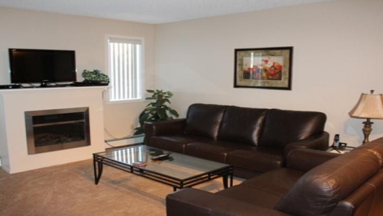 Living room at South Edmonton Apartments
