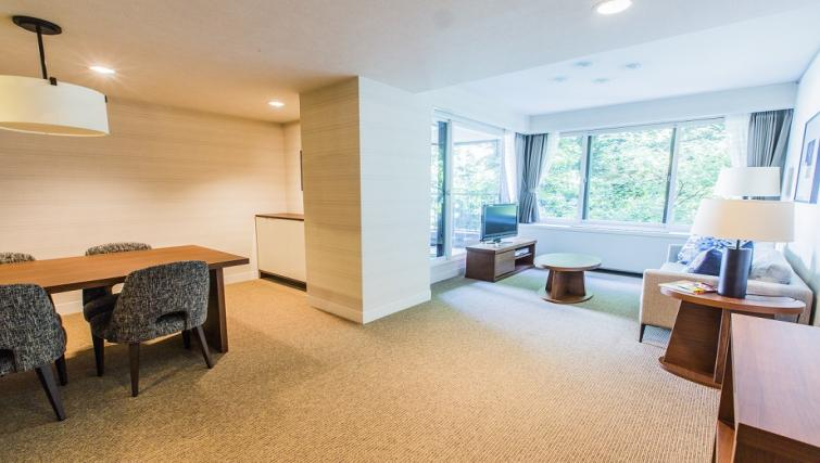 Living space at Somerset Shinagawa Apartments