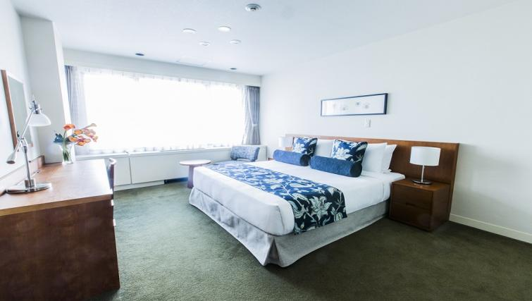 Bright bedroom at Somerset Shinagawa Apartments