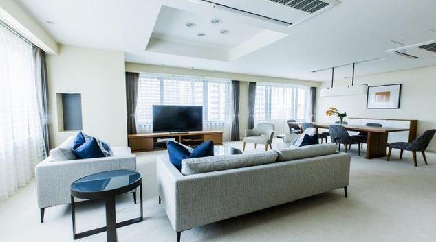 Stunning living area at Somerset Shinagawa Apartments