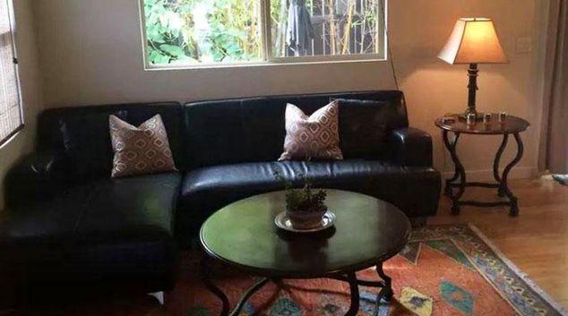 Living area at Carlsbad Apartments