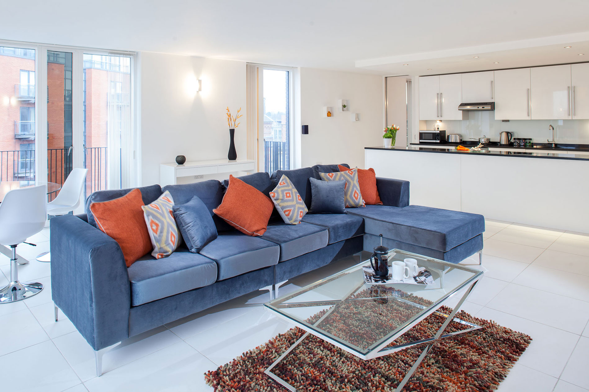 Cushions at Sinclair Apartments, Centre, Sheffield