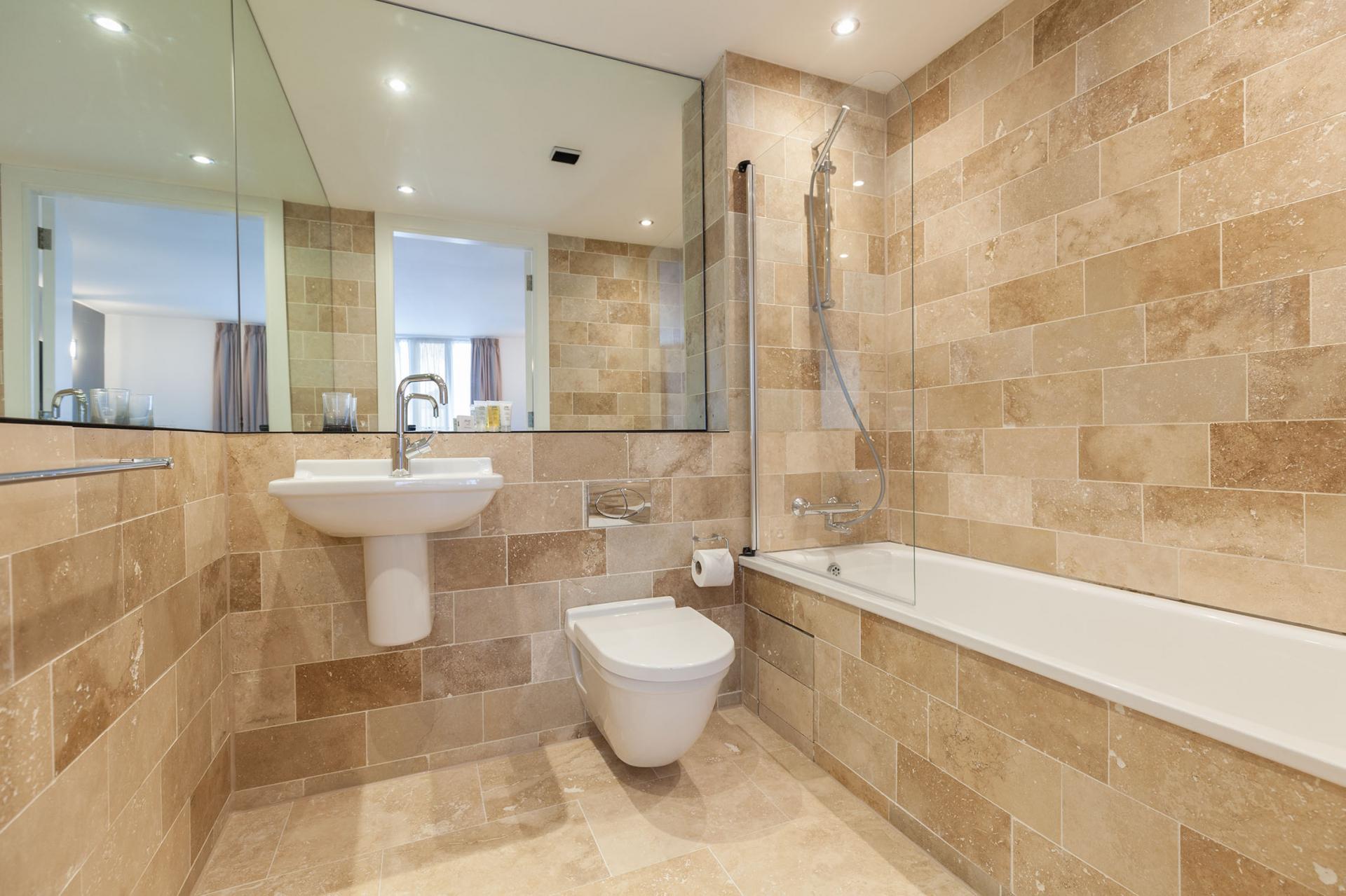 Family bathroom at Sinclair Apartments, Centre, Sheffield