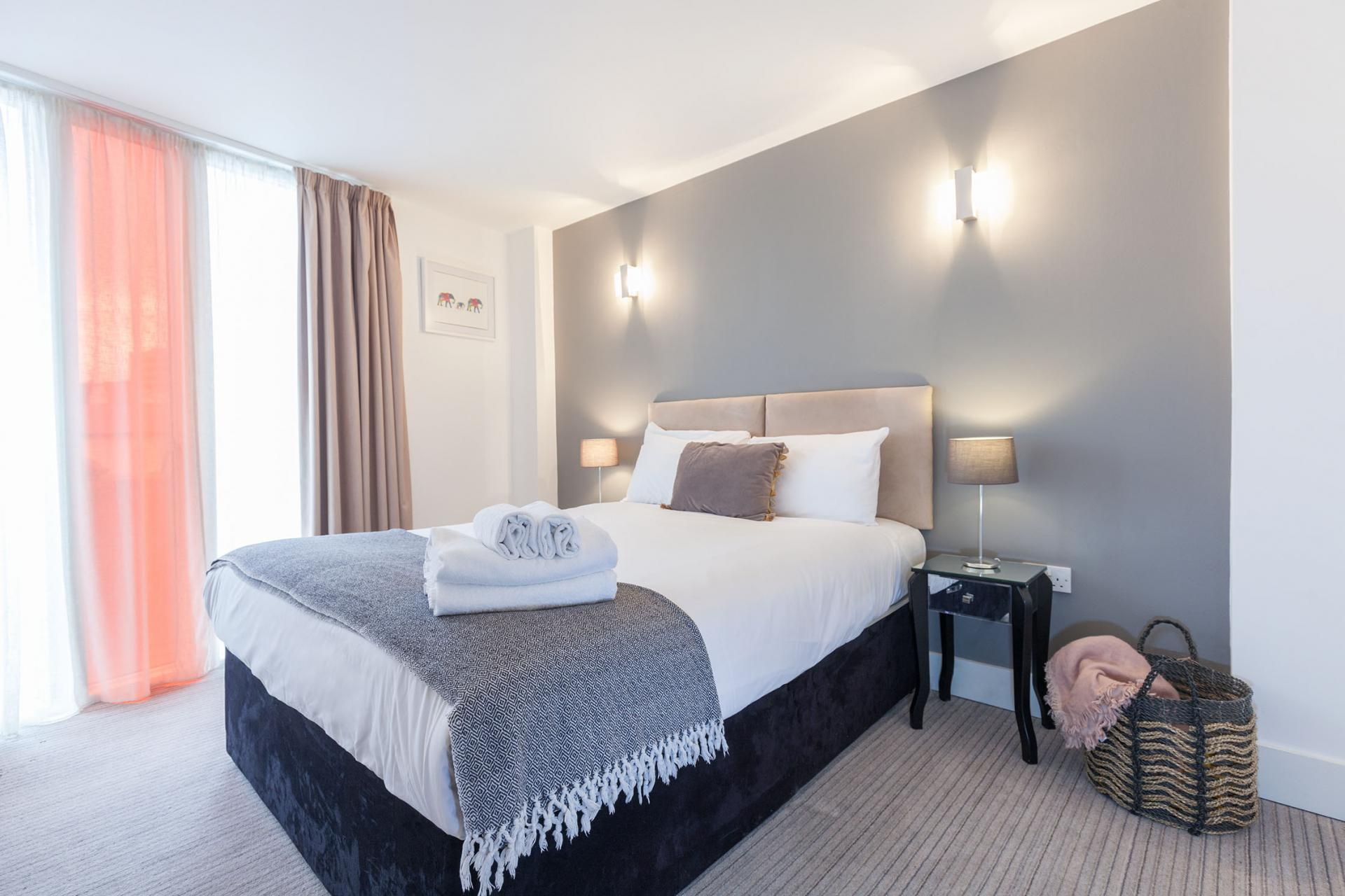 Guest bedroom at Sinclair Apartments, Centre, Sheffield