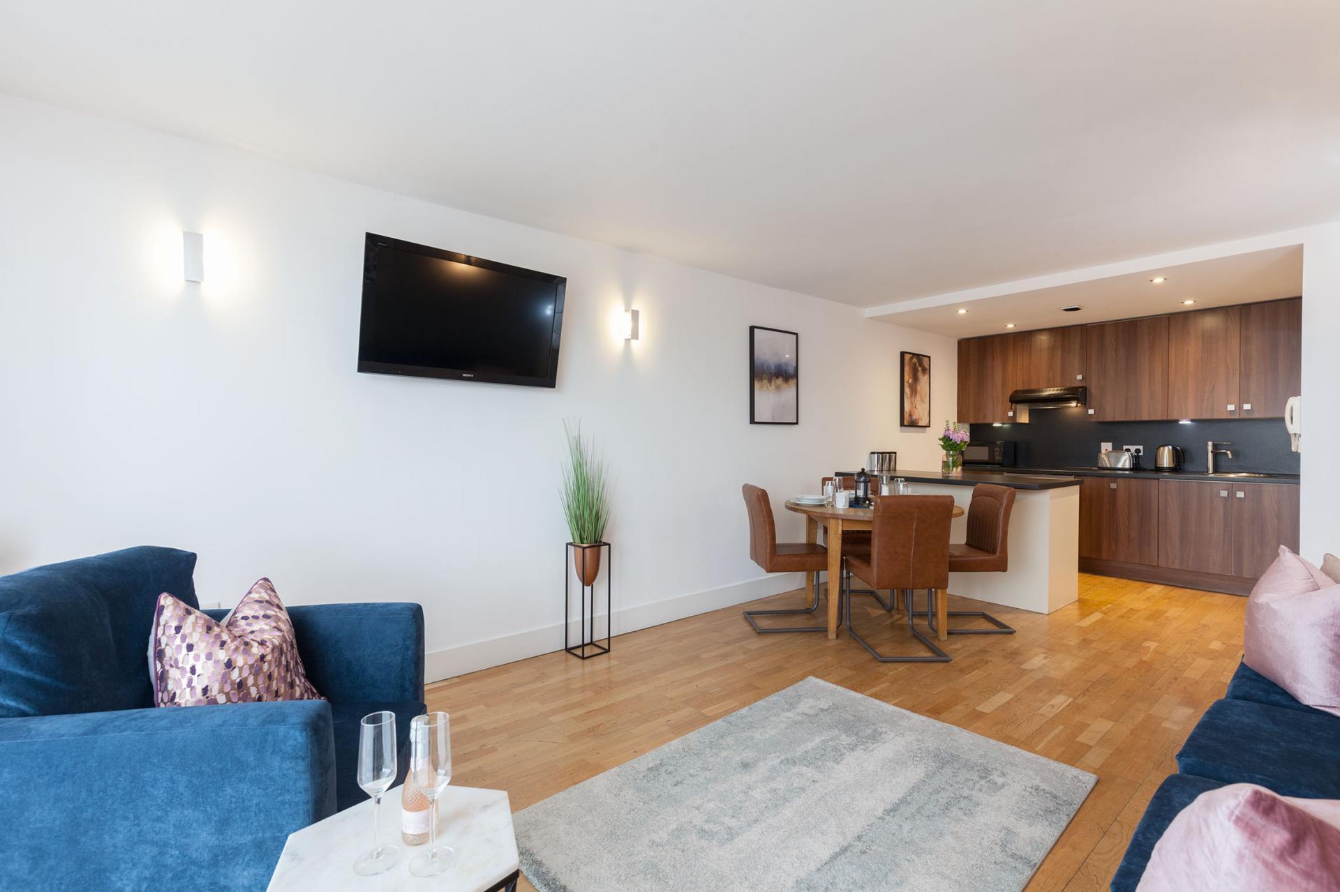Open-plan at Sinclair Apartments, Centre, Sheffield