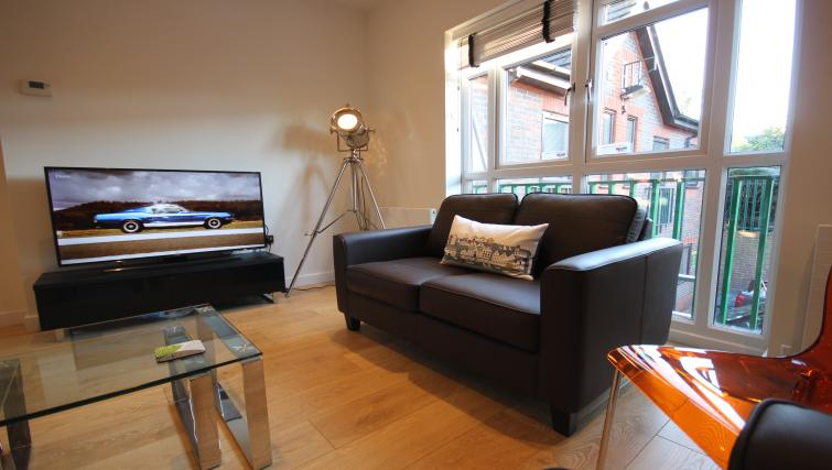 Living area at St Giles Court Apartments