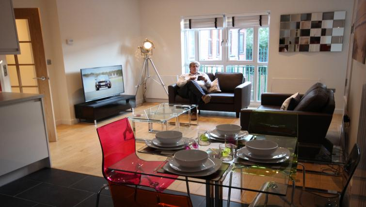 Dining area at St Giles Court Apartments