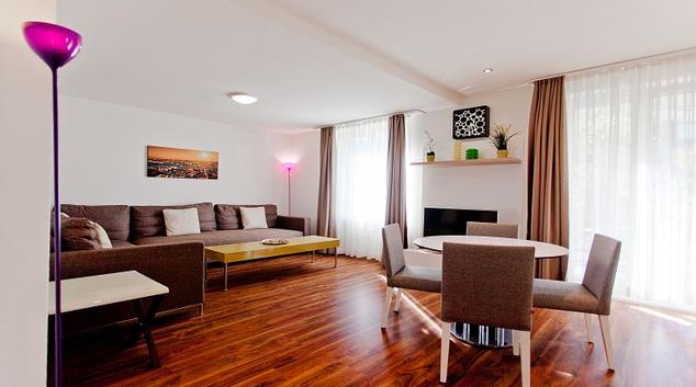 Living room at Weststrasse Apartments