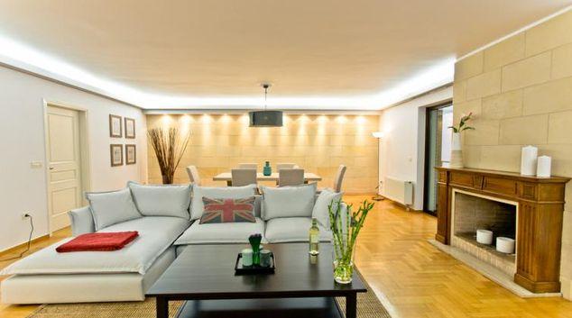 Living area at Pentelis Apartments