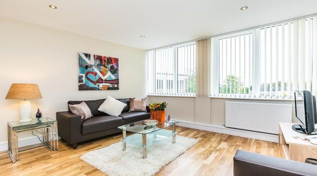Living area at Flying Butler Gayton Road Apartments