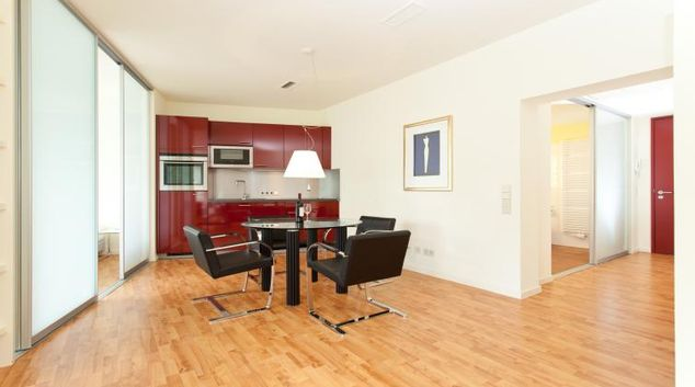 Living area at Buroma Apartments