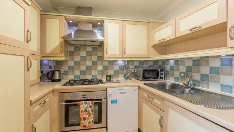 Kitchen facilities at the Stanshawe Court Apartments