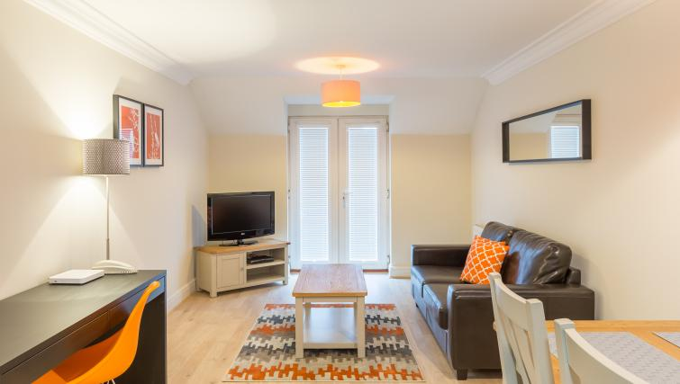 Lounge at the Stanshawe Court Apartments