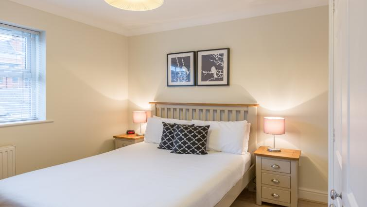 Bedroom at the Stanshawe Court Apartments