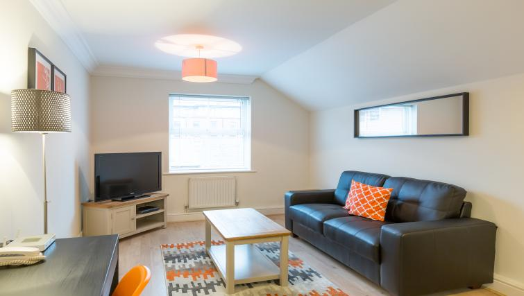 Living area at the Stanshawe Court Apartments