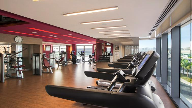 Fitness centre at Capital Centre Arjaan Apartments