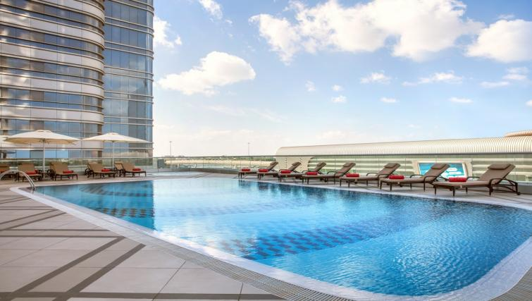Swimming pool at Capital Centre Arjaan Apartments