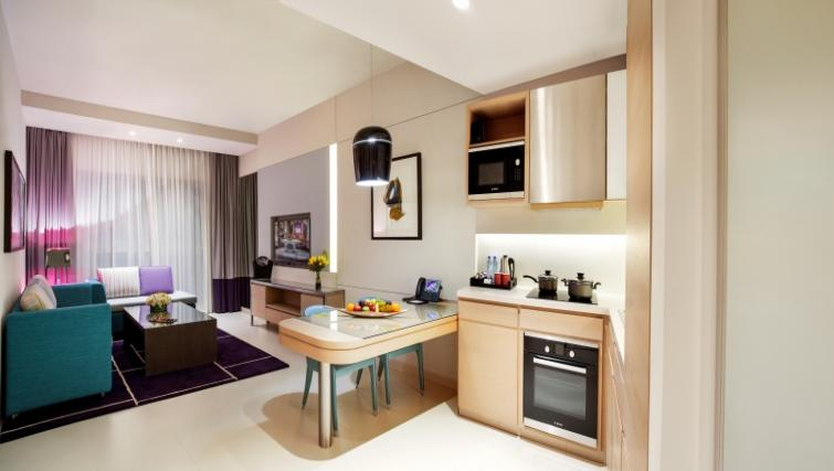 Living area at Capital Centre Arjaan Apartments