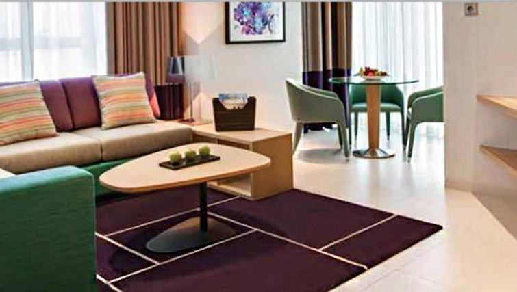 Living room at Capital Centre Arjaan Apartments