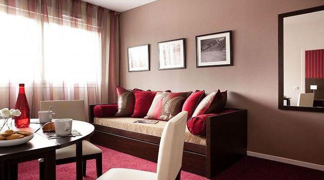 Living area at Operalia Grenoble Apartments