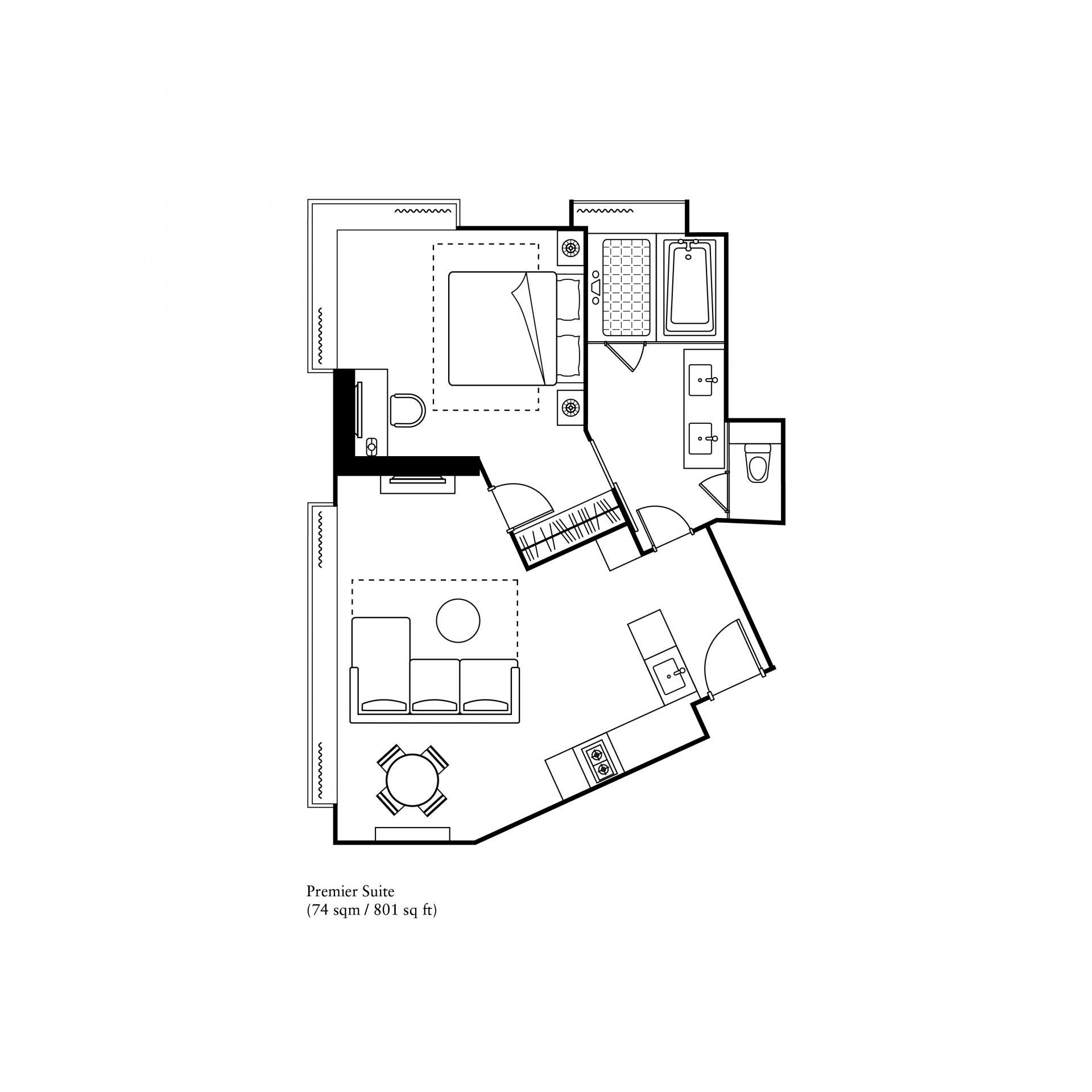 Premier suite at Ascott Macau Apartments