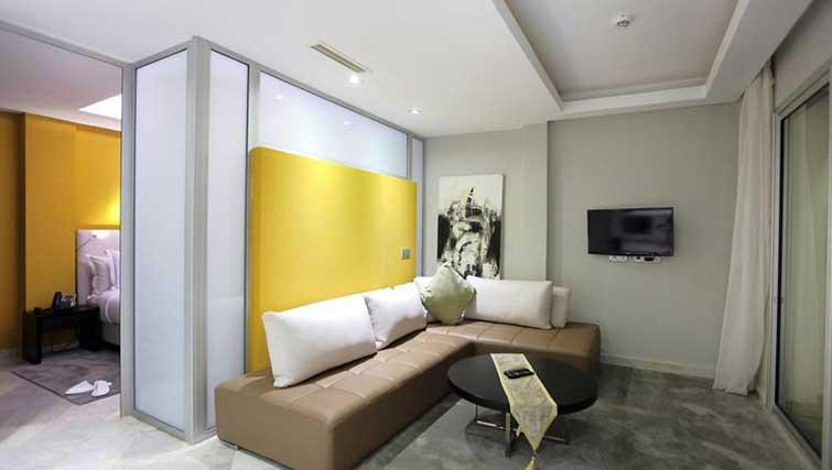 Living room at The Fourteen Apartments